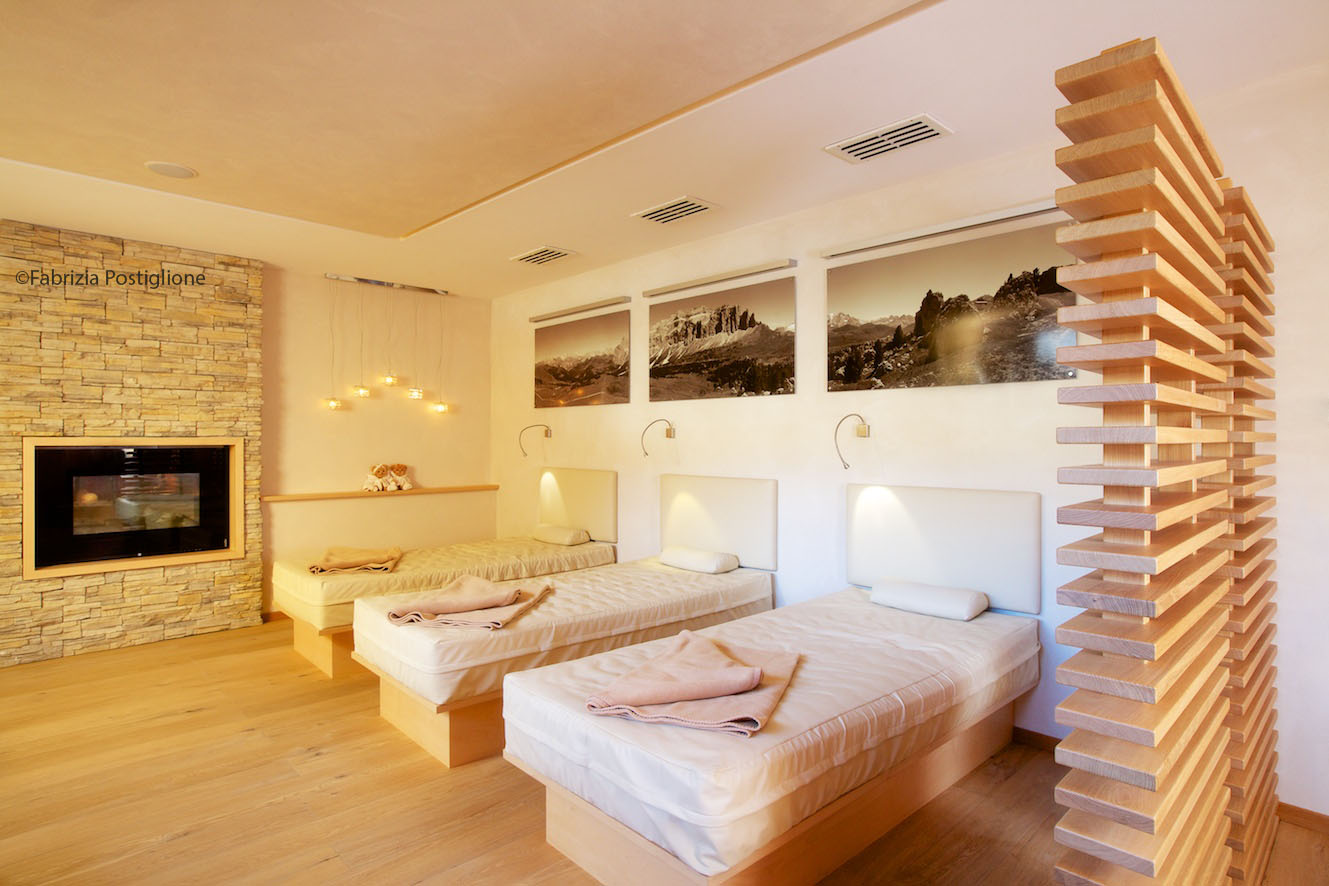 Italy. South Tyrol. Val Gardena Valley. Selva Gardena. Nives Boutique Hotel & Spa.The relax room.