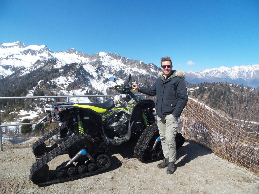 Lorenzo Tevini titolare dell'Hotel Tevini sulle Dolomiti