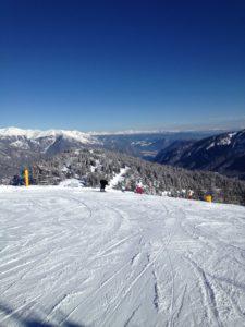 Dolomiti del Brenta - sulle pista da Sci all'arrivo della Daolasa