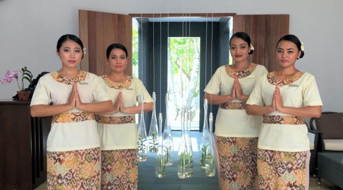L'ingresso alla Cube Spa Maldive