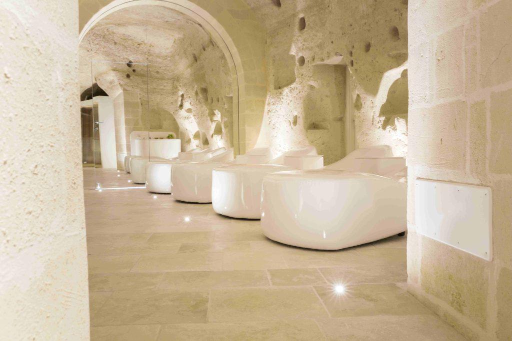 La nuova SPA dell'Hotel a Matera, ricavata nei Sassi