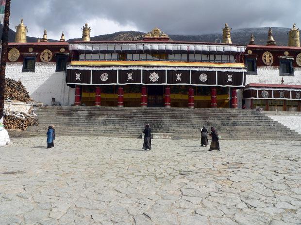 combattere ansia viaggi Monastero di Drepung, Tibet