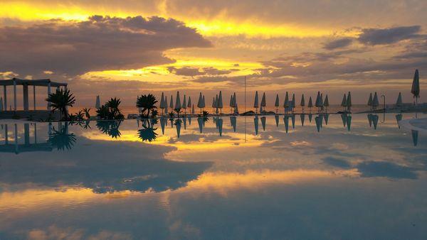 Un tramonto a Capovaticano Resort Thalasso & Spa